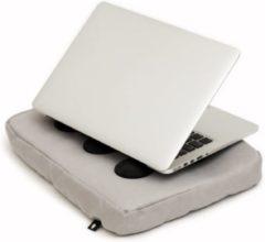 """Bosign laptopkussen, laptop kussen, laptop schootkussen, laptop standaard, met siliconen doppen voor warme luchtafvoer - max 14"""" - Zilver"""