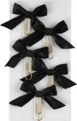 Creotime Paperclips Met Strik Zwart 40 X 70 Mm 5 Stuks