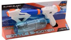 Blauwe Johntoy Aqua Fun waterpistool Space bottle shooter 54 cm