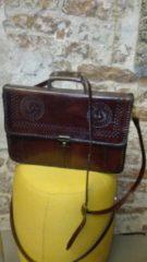 Bordeauxrode IRJA Leren handgemaakte tas