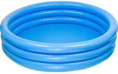 Blauwe Intex Opblaasbaar Zwembad Crystal 3 Rings 147 cm - Opblaaszwembad
