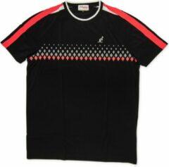 Australian Tennis Shirt Dry Ligth - Ronde Hals - Zwart - Roze - Wit - Maat M (50)