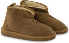 Bruine Texelana Frida pantoffel van schapenvacht - maat 41