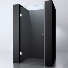 Douche Concurrent Douchedeur Erico Nisdeur Draaideur 70x200cm Antikalk Helder Glas Chroom Profielloos 8mm Veiligheidsglas Easy Clean