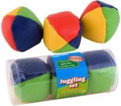 Summertime Jongleerballen 6x stuks - speelgoed jongleren of ballen gooien
