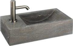 Grijze Ben Venetia fontein hardsteen L 40x22x10(BxLxH) krgt links