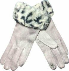 Dames handschoenen - COQUETTE - van BellaBelga - grijs