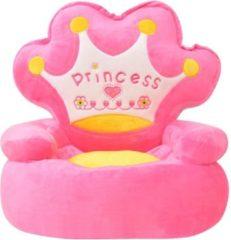 Forbabies Pluche Fluweel Zachte Kinderstoel Princess Roze