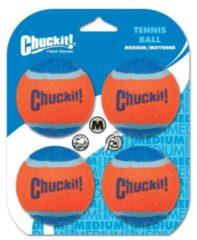Chuckit Tennis Ball 4 Pack - Hondenspeelgoed - 6 cm Oranje M