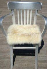 Donja home Decorations Eco Schapenvacht stoelkussen in zacht melange kleur