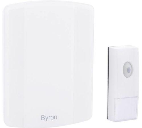Afbeelding van Byron B002E Complete set voor Draadloze deurbel Met USB-aansluiting, Zelf bespeelbaar