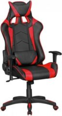 Amstyle AMSTYLE® Bürostuhl SCORE Leder-Optik Schwarz / Rot Schreibtischstuhl Chefsessel Gaming Chair Drehstuhl Sport Racing Optik