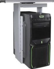 AMSTYLE ® PC-Halter 360° drehbar Universal Computerhalterung 46 - 68 cm silber Tischhalterung mit Auszugsystem Untertisch Befestigung höhenverstellb
