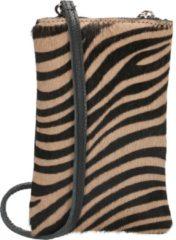 Charm London Telefoon- schoudertasje, zebra bruin/zwart - Charm