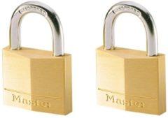 Bronze MasterLock Set van 2 messing hangsloten met 2 sleutels 150EURT