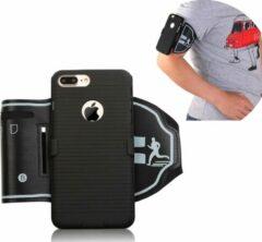 Zwarte ZT Accessoires Holster cover Sport Armband iPhone XR - Sportband Hardlopen met Sleutelhouder