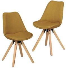 Turquoise WOHNLING 2 stoelen Curry