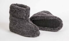 Antraciet-grijze Lifestyle Trading Wollen sloffen grijs maat 37. 100% wol.