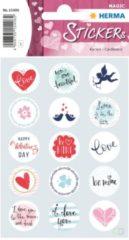 Herma Stickers Liefdesberichten Meisjes 12 X 8,4 Cm Folie