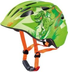 "CRATONI 112208B1 ""Akino"" Kinder-Fahrradhelm Akino, Größe S (49-53cm) Dino, grün (1 Stück)"