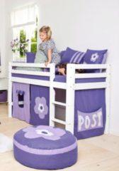 Halbhohes Bett, Hoppekids, »Purple Flower«