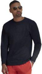 Marineblauwe Fruit of the Loom Basic shirt lange mouwen/longsleeve navy blauw voor heren XL (42/54)