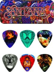 Dunlop SANPT02H Santana Heavy Gauge Pick Tin plectrum set 6 stuks