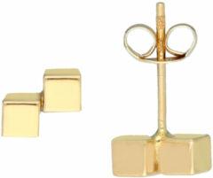 Glow Gouden Oorknoppen - 2x Kubus 206.2047.00