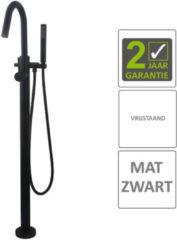 Boss & Wessing BWS Badkraan Cemal Vrijstaand Mengkraan Compleet Mat Zwart
