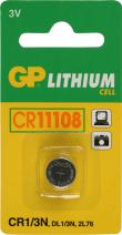 Grijze GP Batteries Lithium Cell CR1/3N Lithium 3V niet-oplaadbare batterij