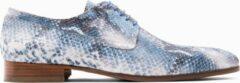 Blauwe Paulo Bellini Lace Up Shoe Lodi Blue.
