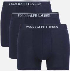 Marineblauwe Polo Ralph Lauren Men's 3 Pack Trunk Boxer Shorts - Cruise Navy - XL - Navy