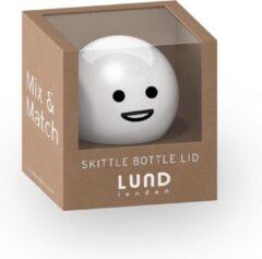 Witte Lund Skittle Drinkfles Dop Los Smiley