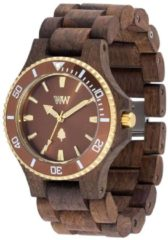 Holz-Herrenuhr Date MB Choco Rough Brown WeWood braun