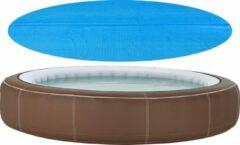 En.casa Zwembadafdekking zonnedoek rond PE blauw 244 cm