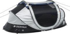 Deryan Luxe Cocoon Pop Up Tent Anti Uv Fps 50+ 2 Seconds - Zilver/ Zwart - 2 Persoons