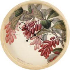 Rode Cloudnola – SKU0077 – Wandklok – Ø32,5 cm – Botanical Epine Vinette