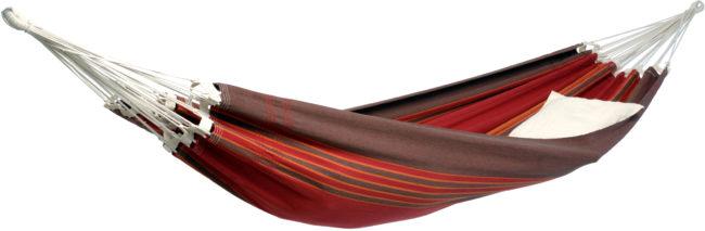 Afbeelding van Amazonas - Brasilianische Hängematte Paradiso - Hangmat maat 250 x 175 cm, rood/purper/grijs