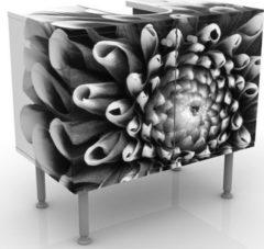 PPS. Imaging Waschbeckenunterschrank - Aster II - Blumen Badschrank Schwarz Grau
