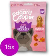 Edgard & Cooper Eend & Kip Bites - voor honden - Hondensnack - 15 x50g