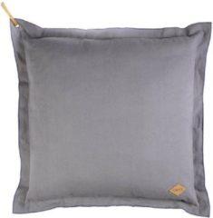 Antraciet-grijze Oilily Dark Slate Sierkussen - 80x80 cm - Antraciet