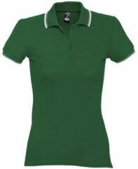 Groene Polo Shirt Korte Mouw Sols PRACTICE GOLF SPORT