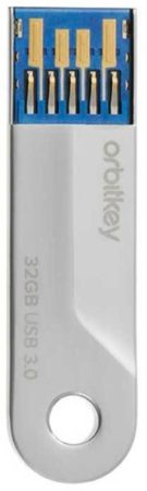 Afbeelding van Zilveren Orbitkey Accessories 2.0 USB-3 32GB stainless steel