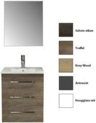 Badkamermeubelset Sanicare Q6 Drie Laden Chromen Greep 60 cm (alle kleuren, spiegel optioneel)