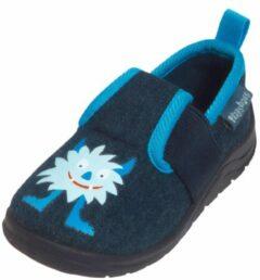 Playshoes Instappers Monster Jongens Blauw Maat 28/29