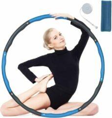 Blauwe Be Part sportartikelen BPS® - hoelahoep - hoelahoep fitness - hoelahoep volwassenen - hoelahoep met gewicht - hula hoop - Hula hoop fitness - Weight hoop - 1KG