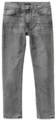 Grijze Nudie Jeans Lean Dean slim fit jeans met gekleurde wassing