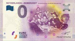 Paarse 0 Euro Biljet 2019 - Rembrandt - De anatomische les van Dr. Nicolaes Tulp