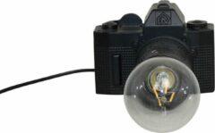 Camera Lamp-15x11cm-Polyresin-Zwart-Housevitamin