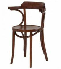 Bruine Fameg Thijs houten eetkamerstoel - Met armleuning - Walnoot